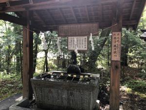 新屋山神社 手水舎