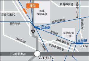福生七夕まつり アクセスマップ