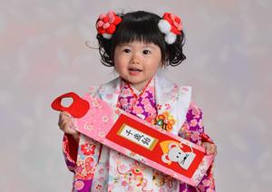 七五三 3歳の女の子の着物