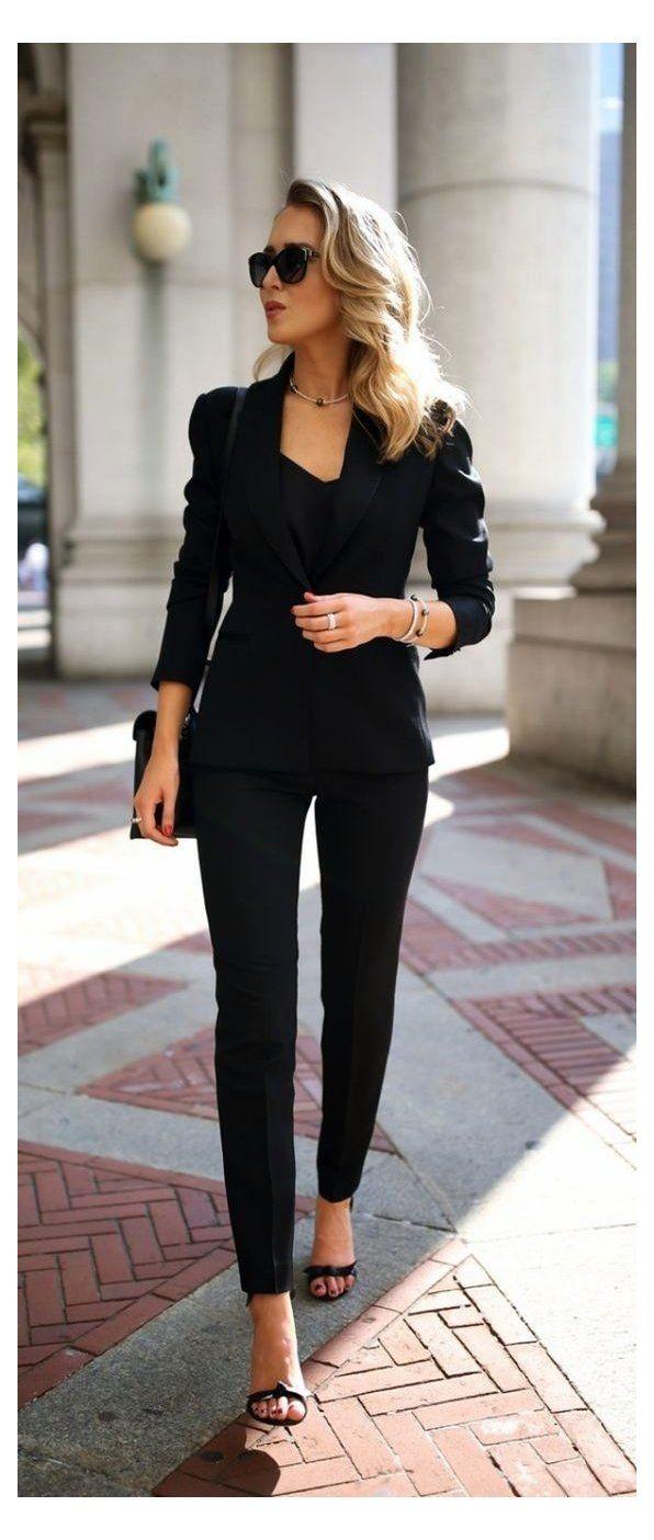 blazer outfits for women classy heels