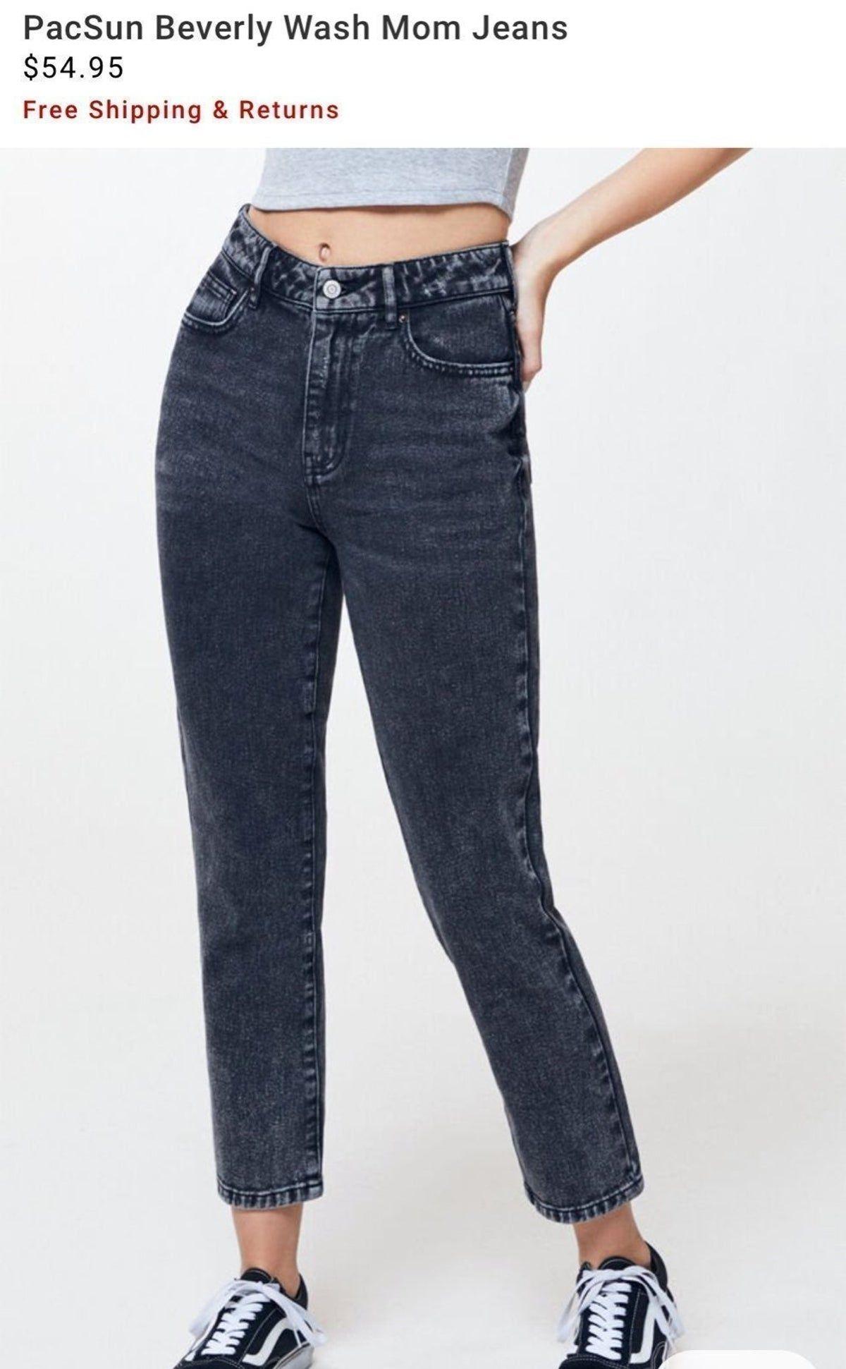 Pacsun Black Mom Jeans, size 26 on Mercari