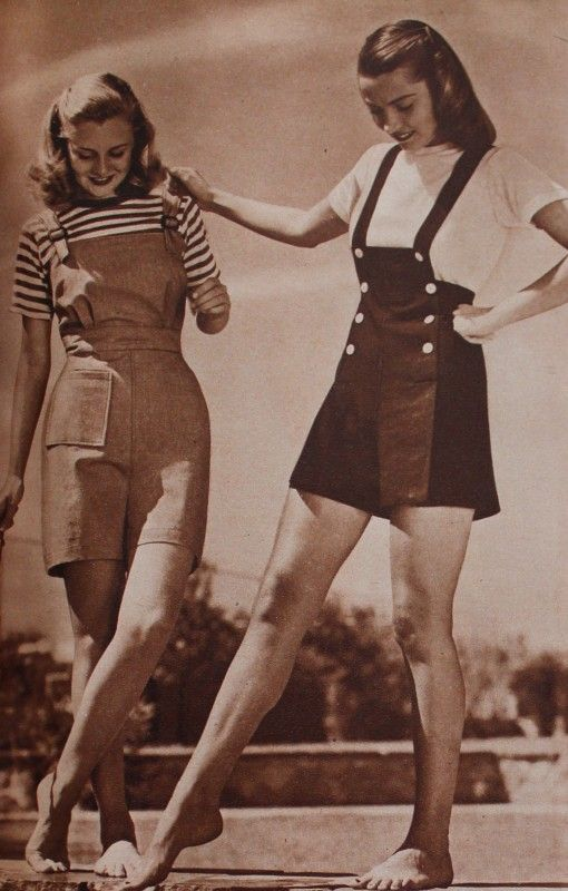 40s-50s Vintage Playsuits, Jumpsuits, Rompers History