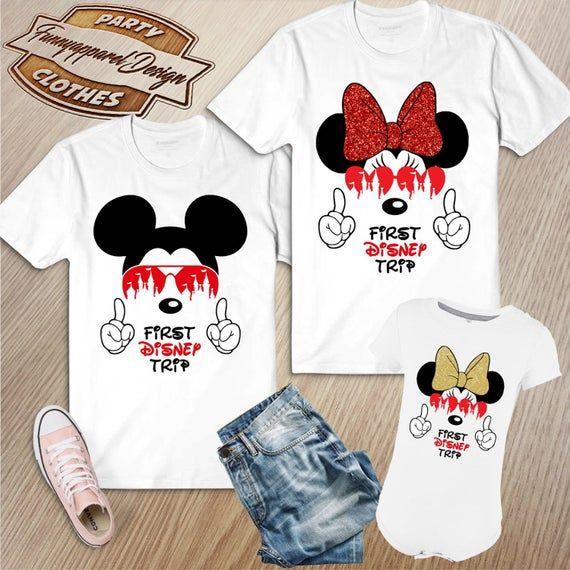 My first Disney trip Disney kids shirt Disneyland shirt | Etsy