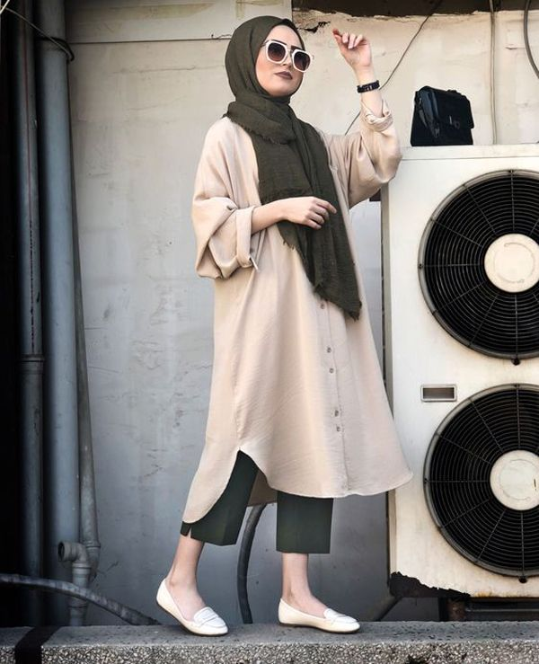 oversized-tunic-hijab-outwear | FashionLookStyle