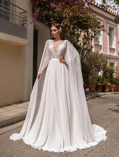 A-Line wedding dress  GWEN  Bridal gown Lace wedding dress | Etsy