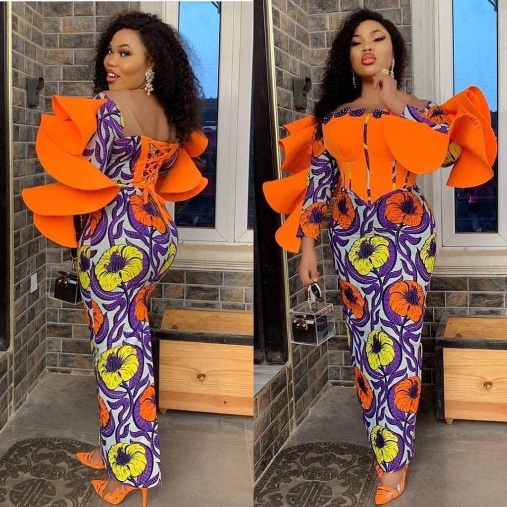 Corset Asoebi dress African print | Etsy