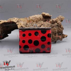 Geldtasche Rockabilly Design rot / schwarz