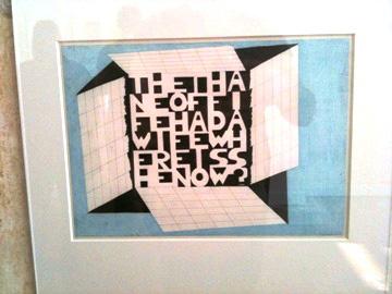 Paul van der Eerden @ A.VE.NU.DE.JET.TE Institut de Carton