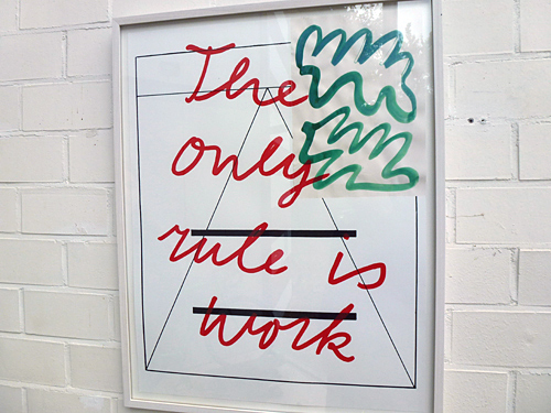 The Only Rule is Work @ Galerie Waalkens