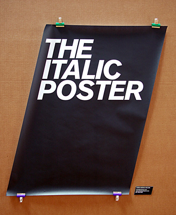 The italic poster