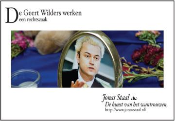 Geert Wilders, Jonas Staal
