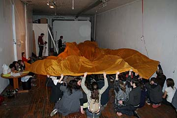 Open Interval living Room gallery presents Evan Scott      Ruben Landing performance 02.JPG