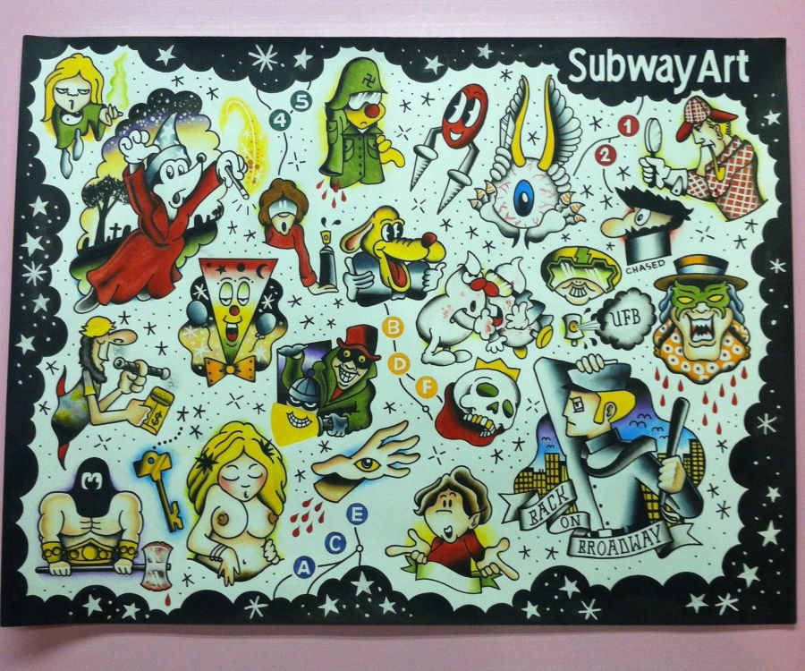 Subway Art Tattoo Flash