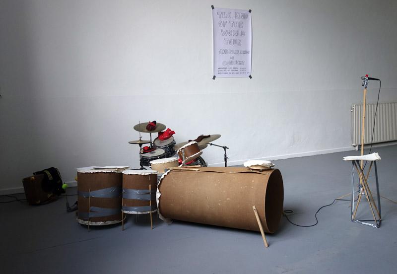 het oh zo populaire 'kunst met een drumstel'