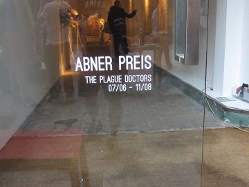 Abner's Plague Doctors at Harlan Levey in Brussels