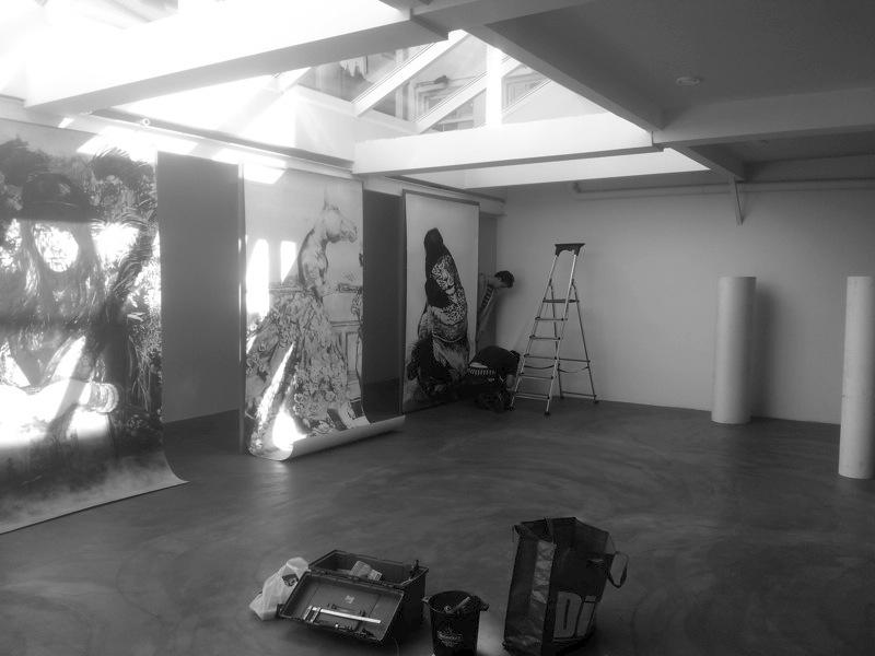 24 PENOZA opbouw SAND galerie @ de Lobsterhouse Amsterdam- Anouk Griffioen
