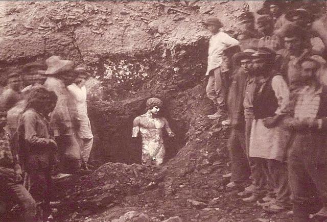 Rediscovery of Antinous, Delphi 1893.