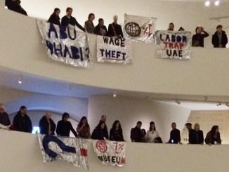 Protest in Guggenheim