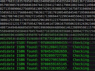 ISBN nummers zoeken in Pi
