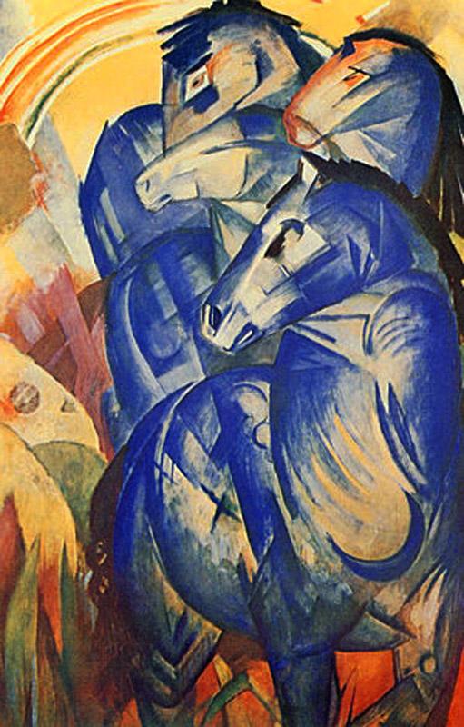 Vermisst, Der Turm der blauen Pferde von Franz Marc