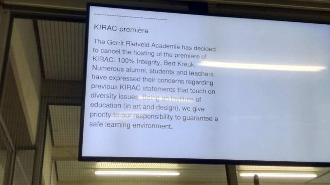 Op de Rietveld geen KIRAC's in gesprek met Bert Kreuk