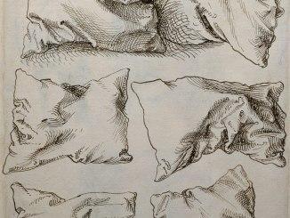 Albrecht Dürer, Six Studies of Pillows (verso)