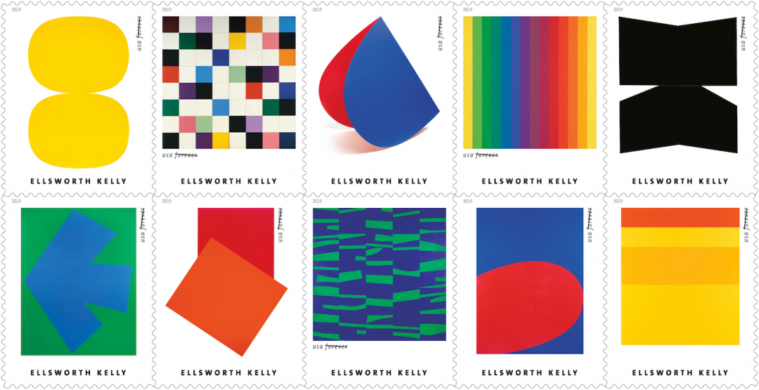 Ellsworth Kelly als postzegel