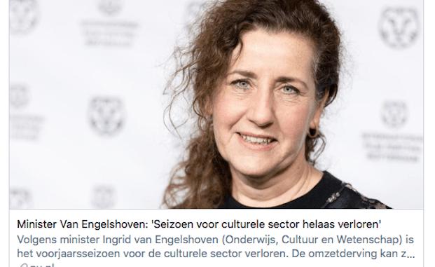 Minister Van Engelshoven knokt keihard voor de kunstsector en slaat zichzelf knock out