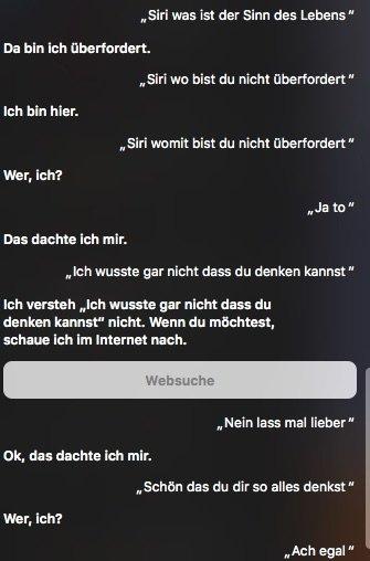 Mensch Maschine Missverstandnis Siri Was Ist Der Sinn Des Lebens
