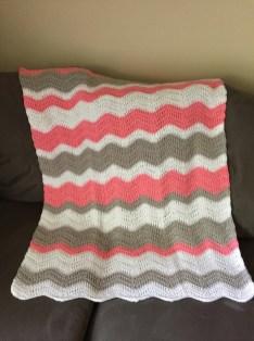 Chevron Baby Blanket Crochet Pattern Ripple Ba Blanket Crochet Ba Afghan Chevron Ba Etsy
