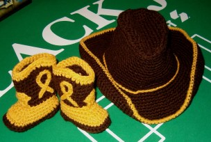 Crochet Baby Cowboy Hat And Boots Pattern Free Cowboy Hat Amp Boots For Ba Turner