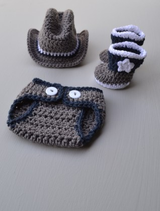 Crochet Baby Cowboy Hat And Boots Pattern Free Newborn Ba Cowboy Outfit Costume Crochet Cowboy Hat Boots Etsy