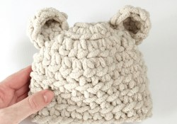 Crochet Baby Hats Patterns How To Make The Softest Ba Bear Hat Crochet Pattern