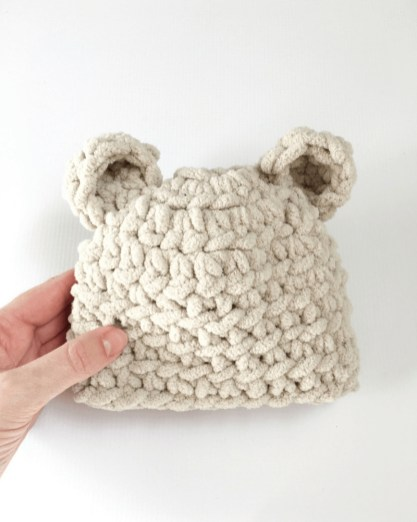 Crochet Baby Hats Patterns How To Make The Softest Ba Bear Hat Crochet Pattern