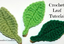 Crochet Leaf Pattern Crochet Simple Leaf Tutorial Crochet Jewel Youtube