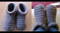 Crochet Sneaker Pattern Crochet Slipper Boots Youtube