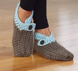 Crochet Sneaker Pattern Cuffed Slippers Pattern