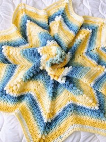 Crochet Star Afghan Pattern Blue And Yellow Crochet Star Blanket Crochet Crochet Star