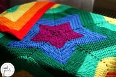 Crochet Star Afghan Pattern Rainbow Bawearing Blanket Wool Pickle