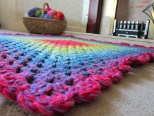 Easy Crochet Afghan Patterns Afghan Patterns For Variegated Yarn Colorful Stitch And