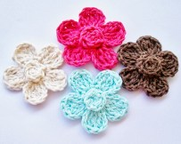 Easy Crochet Flower Pattern Flower Girl Cottage Free Crochet Flower Pattern