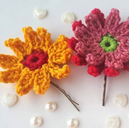 Easy Crochet Flower Pattern Gerbera Crochet Flowers Free Crochet Pattern