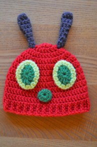 Free Crochet Patterns For Baby Hats Crochet Hungry Caterpillar Cocoon And Hat Set With Free Pattern