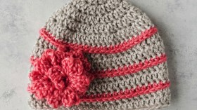 Free Crochet Patterns For Baby Hats Quick Crochet Flower Hat Tutorial Youtube