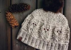 Owl Hat Crochet Pattern Crochet Hat Pattern Love Of Owls Hatcrochet Hatcrochet Etsy
