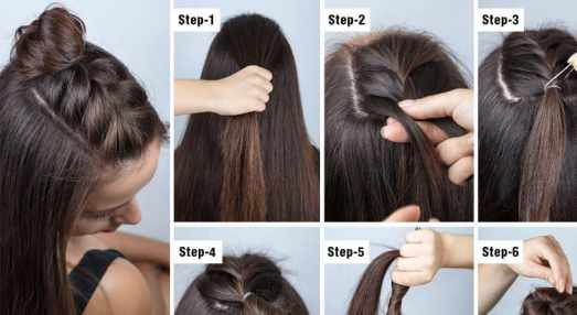 Easy Half bun tutorial