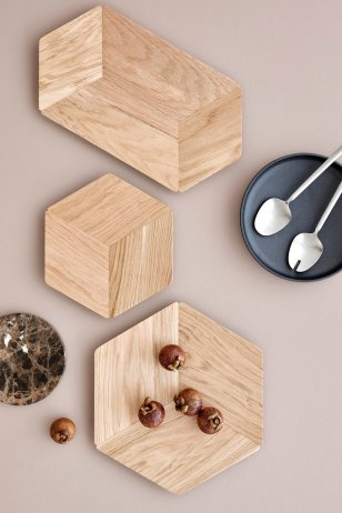 Pieced perfection: bowls in light wood from Blomus