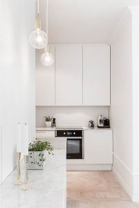 A Beautiful All White Apartment In Modern Style 31