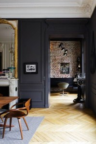 Best Home Office Ideas With Black Walls 15