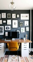 Best Home Office Ideas With Black Walls 19